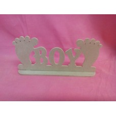 4mm MDF Standing boy plaque with feet